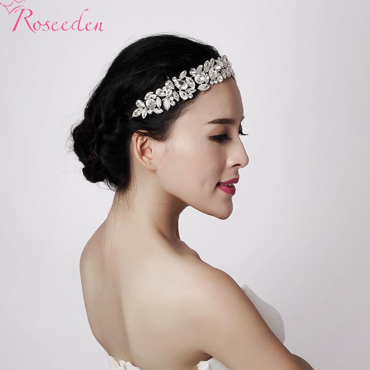 Fashion Clear Crystal Bridal Head Piece New Women Rhinestone Bridal Headpiece Wedding Tiaras Crown Accessories for Women RE193