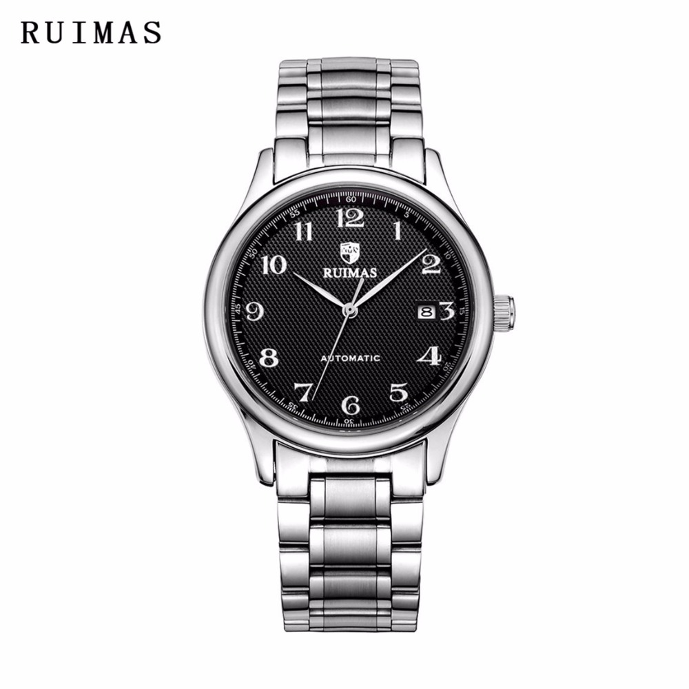 RUIMAS Luxury Brand Men Mechanical Business Wristwatch Waterproof Watch Relogio Masculino Gentle Famous Watches Erkek Kol Saati relogio masculino men business watch leather wristwatch rose gold quartz watches mens 2018 ruimas classic clock erkek kol saati