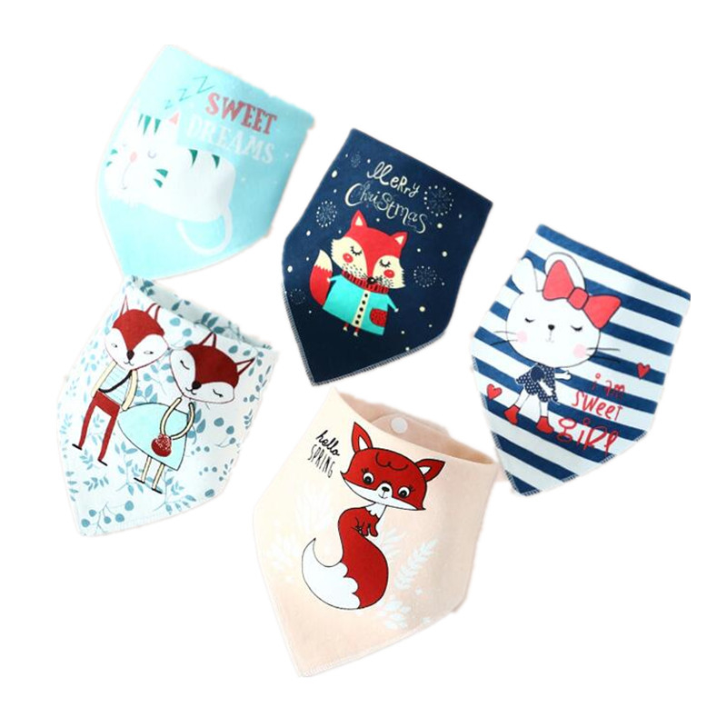 6f54ed2a2f2be High absorbent baby bibs 95% cotton cortoon baby bandana bib burp cloth for  children boy girl toddler drool bibs meal collar ~ Free Delivery July 2019