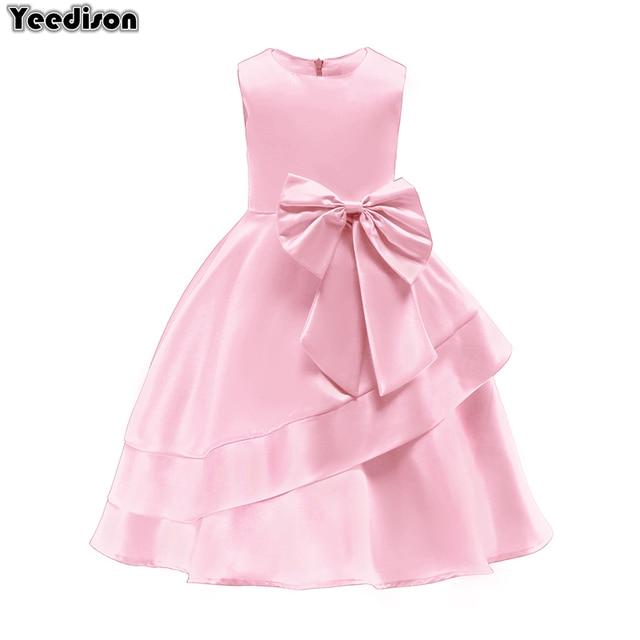 2018 ורוד בנות נסיכת ילדי שמלת ערב בגדי קיד פורמליות מסיבת חתונת תחרות שמלות בנות לנשף שמלת 7 8 9 שנה
