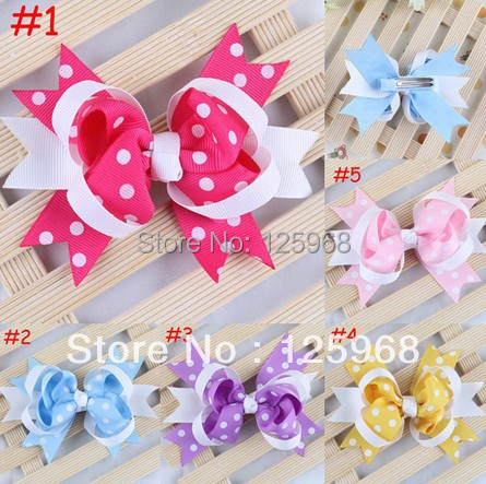 Free Shipping!2014 New 50pcs/lot Baby Clip Hairpin Hiargirps Girls Hairbow Baby Tiny Bow Infant Hairbows Toddler Girl Hair Clip