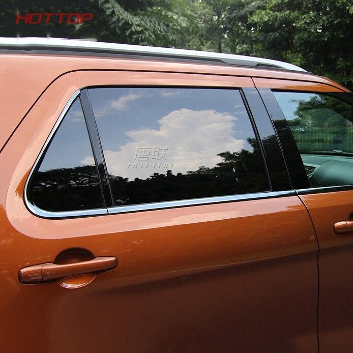 Нержавеющаясталь пригодный для Ford Explorer 2016 2017 укладка окна автомобиля декоративные планки внешние аксессуары
