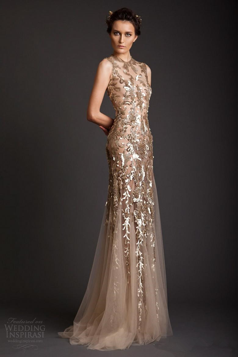 Aliexpress.com : Buy Krikor Jabotian 2016 Sexy Mermaid Crew Sheer ...