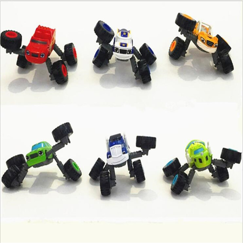 1pcs Vehicle Blaze and the Monster Machines Vehicles Diecast Toy Racer Cars Trucks Anime Action Figure Deformed, Leg Retractable cool and fashion toy vehicles plastic mold