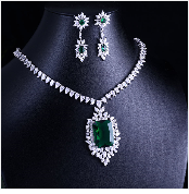 HTB1A0ZvbBmWBuNkSndVq6AsApXaW JaneKelly Gold-Color Luxury Sparking Brilliant Cubic Zircon Drop Earring Necklace Jewelry Sst Wedding Bridal jewelry sets