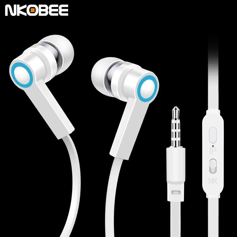 Nkobee j3 en la oreja los auriculares para apple iphone deporte auricular estére