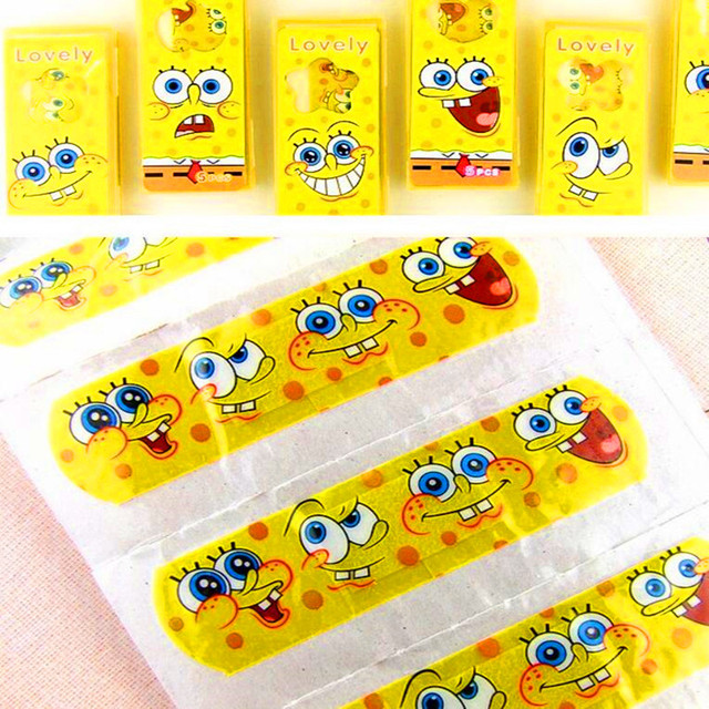 100pcs Cartoon bandages Waterproof bandages A variety of design emergency breathable