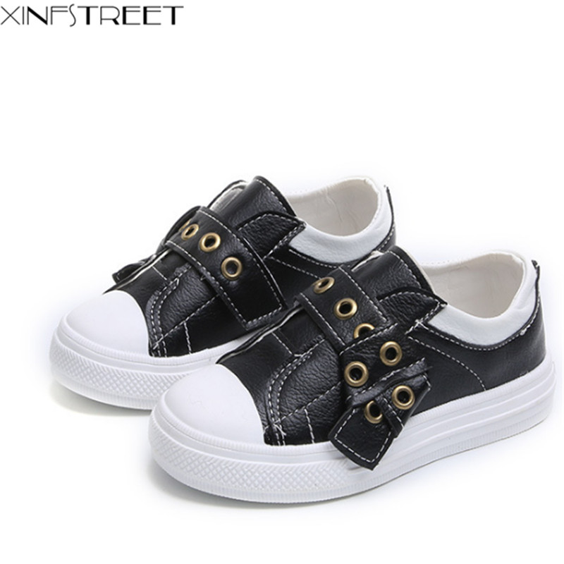 Xinfstreet Brand Kids Shoes For Girls Boys Children Sneakers Sport School Shoes Pu Leather Toddler Unisex Girls Shoes Size 21-30