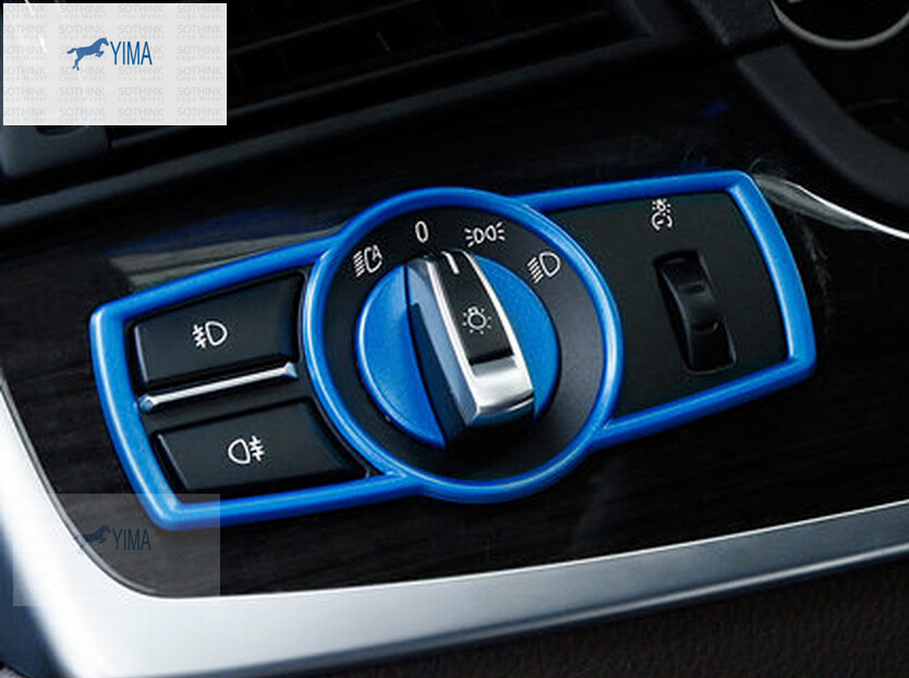 New Interior For BMW 5 Series F10 520i 2011 2015 ABS Headlight Lamp Switch Button Cover Trim 3 Model Choice In Car Stickers From Automobiles
