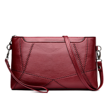 Latest New Fashion Brand Simple Women Black Red Two Chains Shoulder & Crossbody Bag Handbag Girls Messenger Baguette