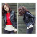 New Arrival 2016 Autum & Winter Women Motorcycle Leather Jacket Slim Casual Coat