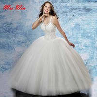 New Arrival White Quinceanera Dress with Beading 2019 Top Sequin Ball Gowns Organza Vestido De 15 AnosZ151411