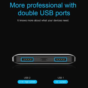 Image 5 - Baseus power bank 10000 mAh bateria externa cargador portatil For iPhone Xiaomi Powerbank Dual USB LCD ultra delgado banco de energía bateria portatil para moviles