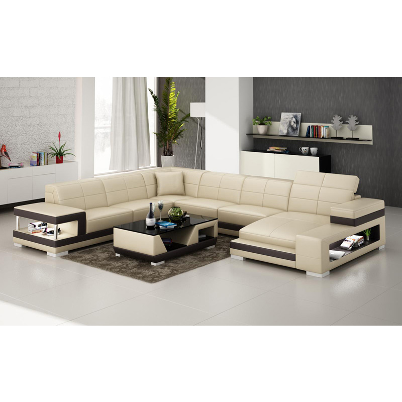 China Top Brand Luxury Black White Living Room Sofa Set