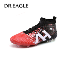 DR.EAGLE futzalki crampon football spike soccer cleat superfly original football boots ankle high sock for AG/FG 39 44