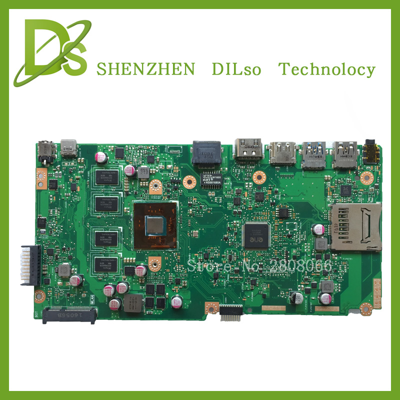 все цены на  For ASUS X540SA Laptop motherboard X540SA mainboard REV2.1 integrated  dual-core processo onboard freeshipping 100% tested  онлайн