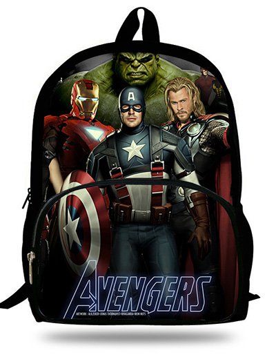 16 inch Kids Captain America School Backpack For Children School Bags Boys  The Avengers hulk Backpack Mochila Infantil-in School Bags from Luggage    Bags on ... d683eb121d0ee