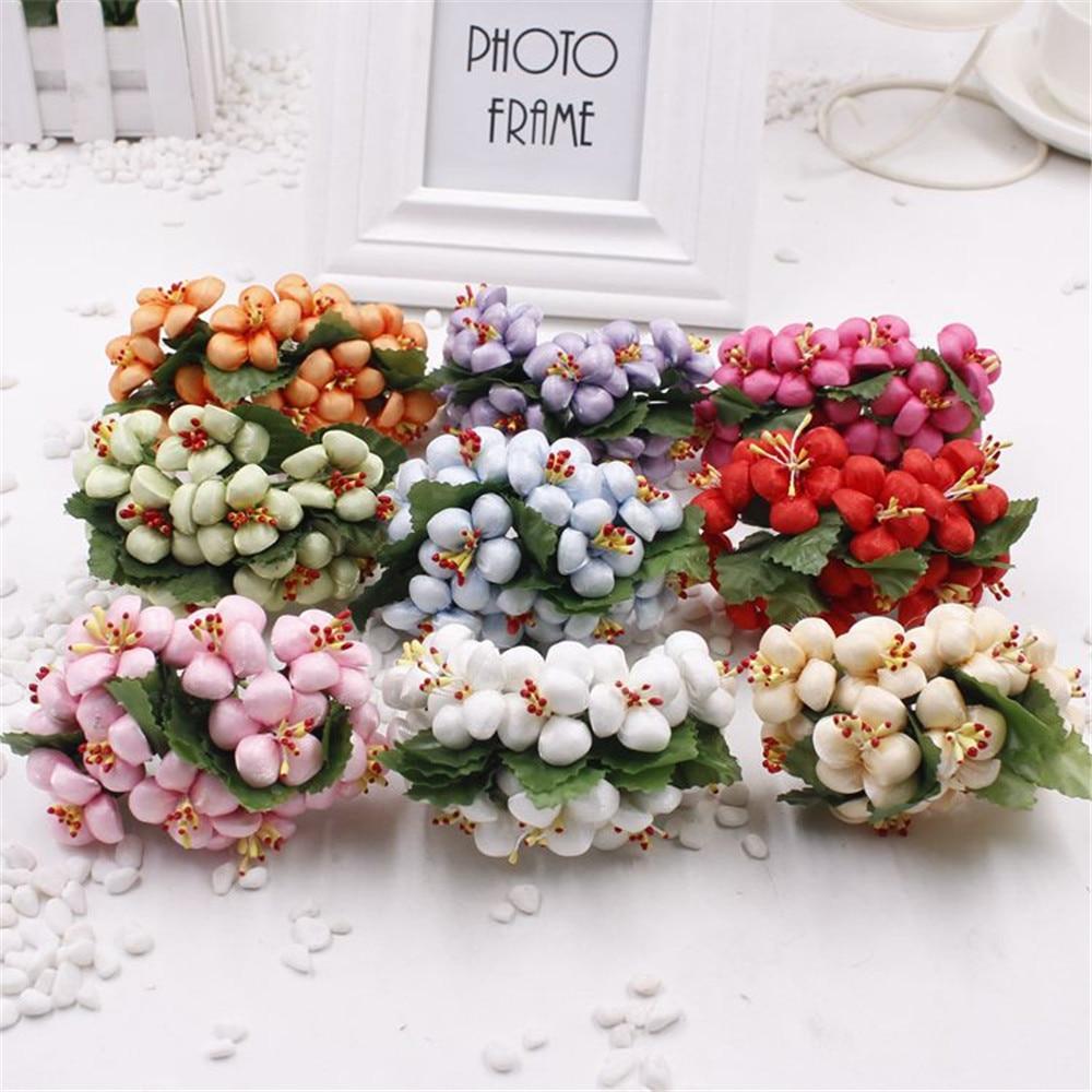 10pcs/lot Fragrant Cotton cloth Bouquet artificial flowers for DIY ...