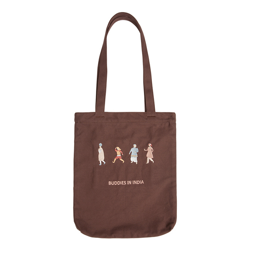 YIZISTORE canvas embroidery casual shoulder bags in BUDDIES IN INDIA series(FUN KIK) scavengers in india page 1