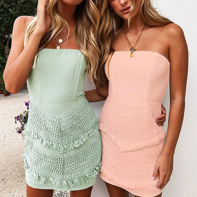 Women 2018 Sexy slash neck Long Sleeve Long Lace Dress Summer Floral Maxi Vestidos Mujer Plus Sexy Pink Green