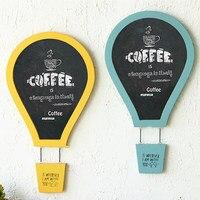 European Retro Color Hot Air Balloon Parachute Decorative Blackboard Message Board Bar Shop Wall Wall Decoration