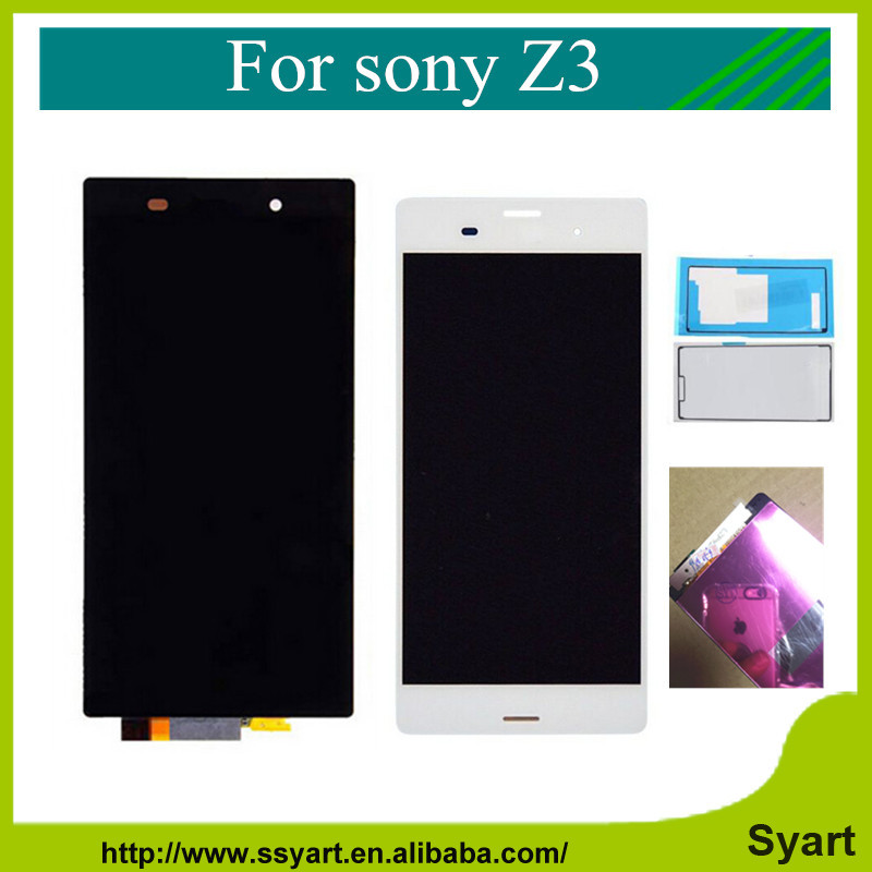Z3 lcd complete New For Sony xperia z3 D6603 D6653 L55t LCD Display touch screen digitizer