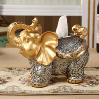 European high end creative tissue box dining table tray living room storage box cute elephant desktop coffee table tissue box