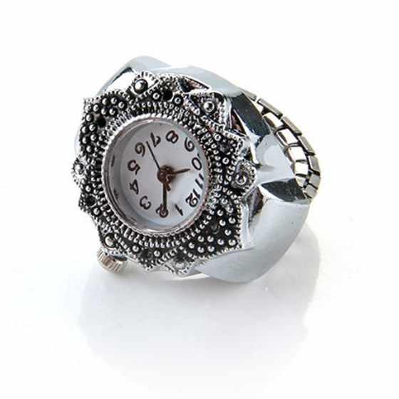 """Nrpfell Relógio Anel de Cor Prata Para As Mulheres Homens Lady Watch Ring Finger 0.87 """"HOT Anillo Relogio feminino Projeto Original relógio anel"""