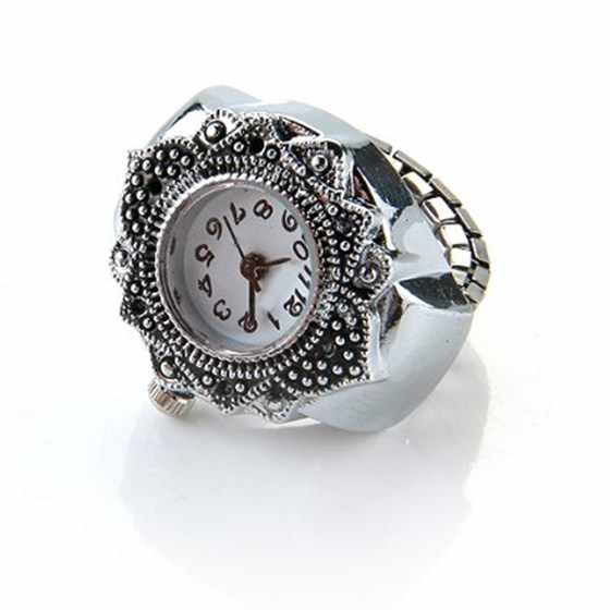 "Nrpfell Silber Farbe Ring Uhr Für Frauen Männer Lady Ring Finger Uhr 0,87 ""HEIßER Anillo Relogio Feminino Einzigartige Design ring Uhr"