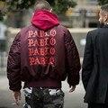 Newest  Jackets Pablo Kanye West MA1 Bomber Jackets Men  3 Pablo Thick Coats Kanye WEST Men Bomber Jacket M-XL