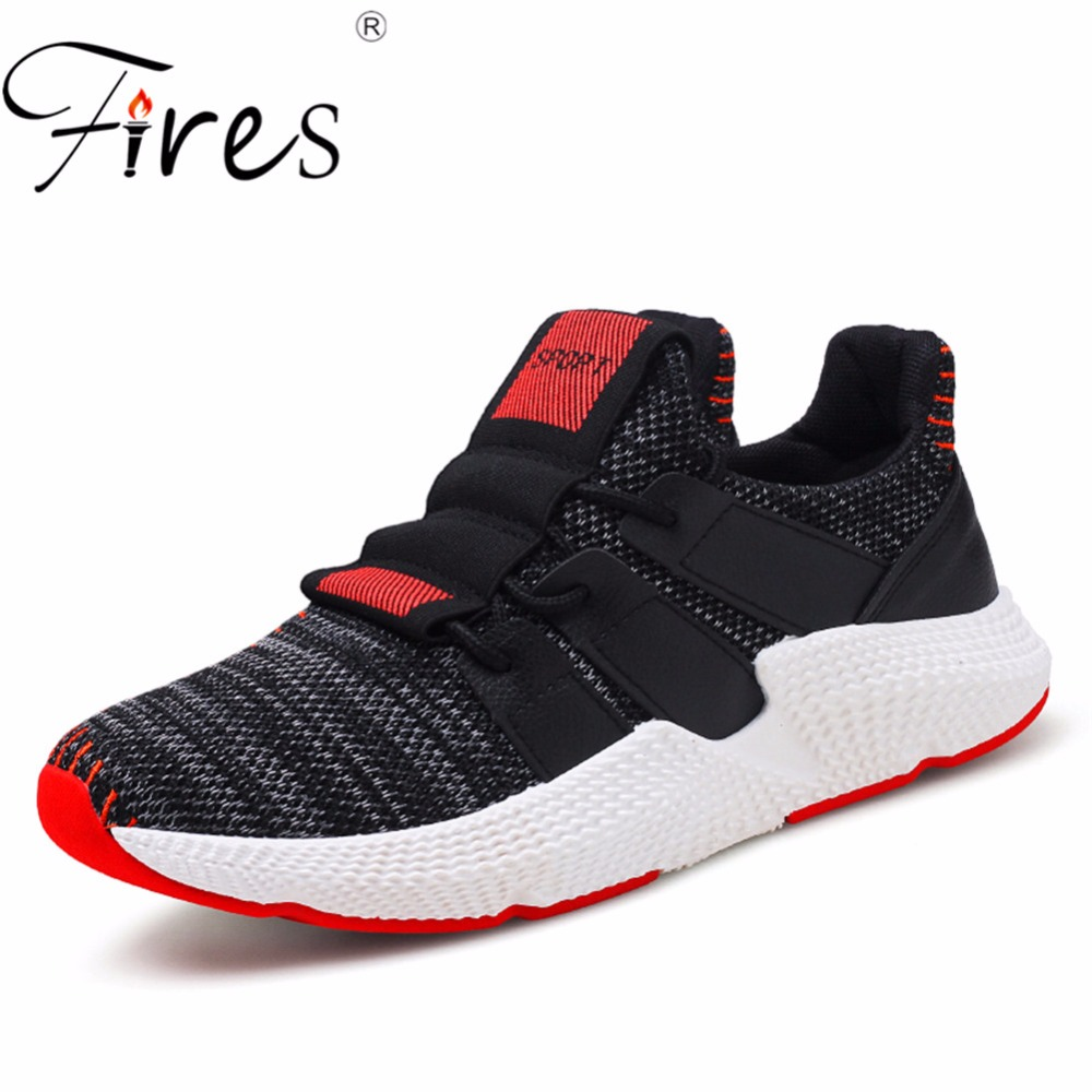 Fires Men Sport Shoes Spring Walking Sneakers Shock Soles Running Shoes Male Lace-up Outdoor Sneaker Soft Man Jogging Shoes crocodile original 2018 new men walking shoes male leather working shoes running jogging sneaker for men s flat sport shoes