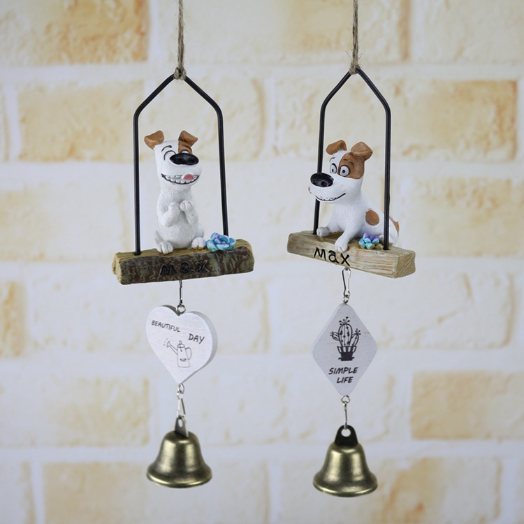 Action Figures dog doll Toys Mini Toy Mike dog resin wind chimes ornaments crafts home decor boy girl kids toy for child gift 50 pcs lot action figures toy cute sucker little monster small animals doll kids toys mini capsule children gift