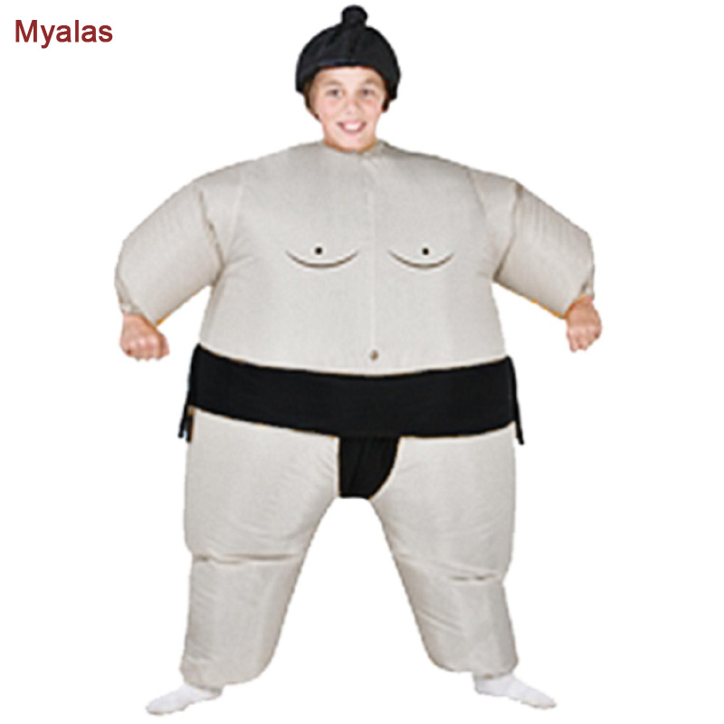 New funny kids costume for halloween inflatable kids sumo for Gonfiabili halloween