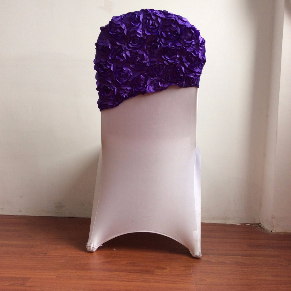 rosette chair hood chair caps for weddings banquet party Free shipping 250pcs/lot