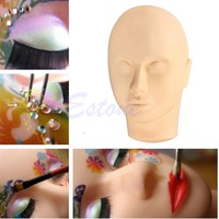 E74 Free Shipping Pro Training Mannequin Flat Head Practice Make Up Eyelash Eye Lashes Extensions