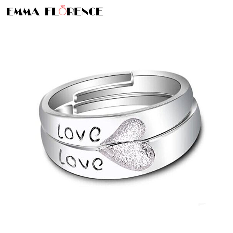 sterling couple bands pin engagement in silver plain ring rings band