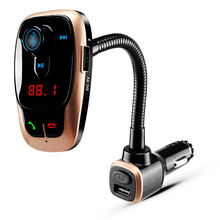купить Wireless Car Bluetooth FM Transmitter MP3 Music Radio Player Audio Adapter Car Kit USB Port Charger Support LCD TF Card by CDEN по цене 976.32 рублей