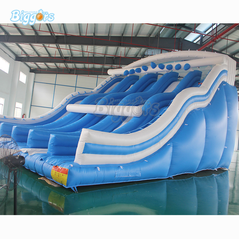 цена на PVC Inflatable giant slide for rental commercial inflatable slide with blowers