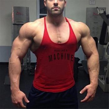 Mens gyms stringer tank top fitness vest canotta bodybuilding clothing muscle tanks singlet cotton workout Sleeveless shirt 2