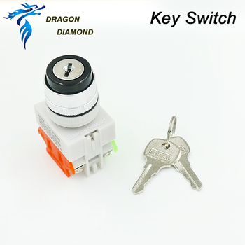 22mm Key Switch LAY7 Diameter Silver Contact Material For Laser Machine Mechanical Parts Free Shipping фото