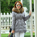 New Arrived 2015 Female Parka Large Real Raccoon Fur Collar Thickening Hooded Women Down Parkas Women Winter Coat Plus Size