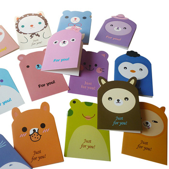 5pcs/pack Original Creative Cute Animal Or For Greeting And Party Random Send 5pcs tip33c new and original