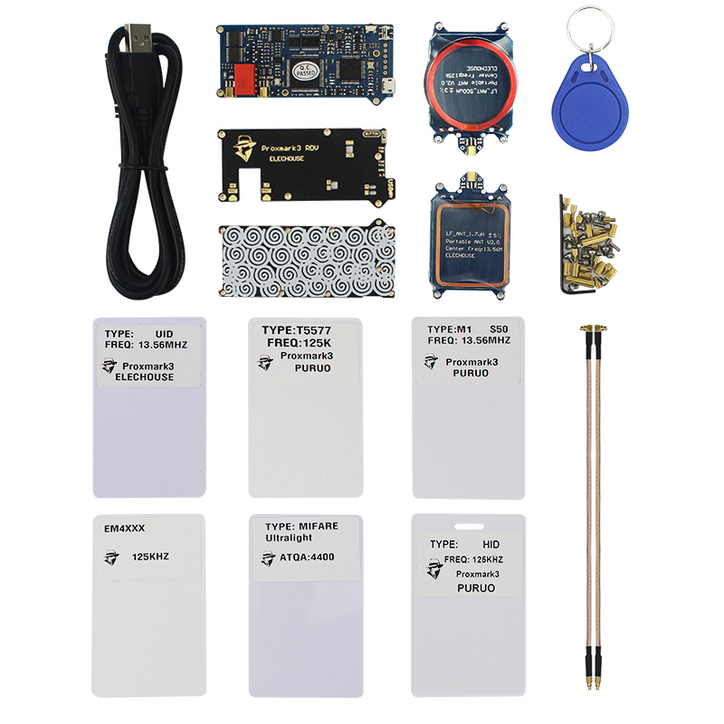 Proxmark3 RDV2 DEV Kits RFID Cloner Duplicateur Lecteur Écrivain UID T5577 NFC Copieur Proxmark 3 Clone Fissure