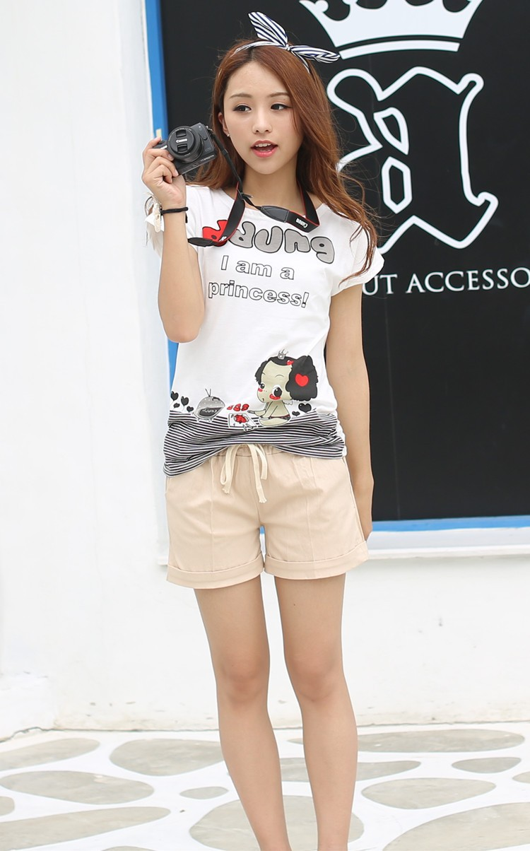 Summer Style Shorts Women Candy Color Elastic With Belt Short Women 35