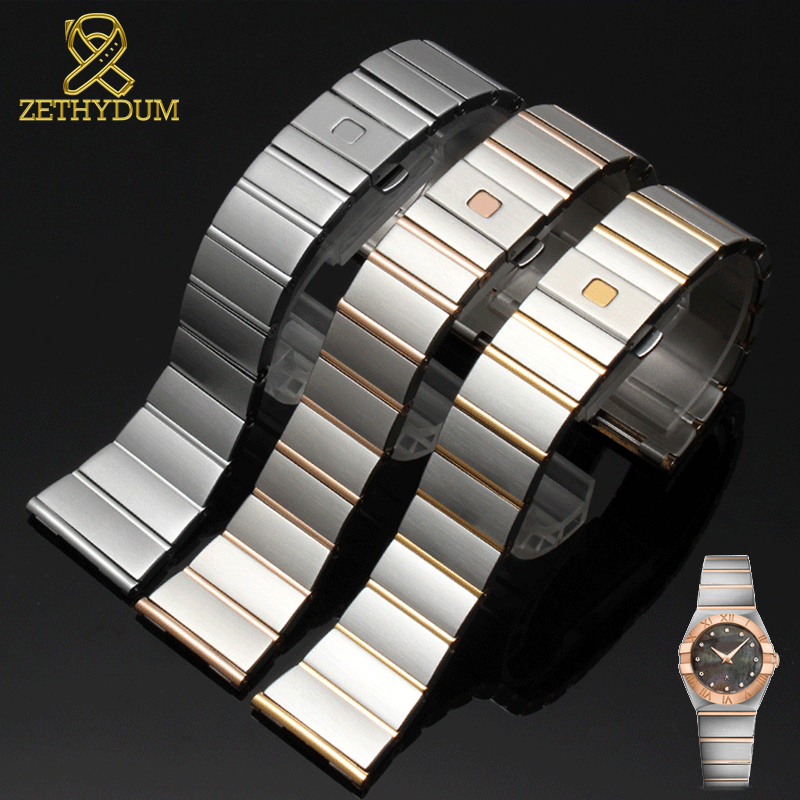 Stainless Steel Watchband 15mm 17mm 18mm 23mm 25mm Watch Strap Suitable For Omega Watch Band Solid Steel Watch Bracelet