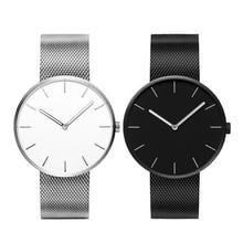 2018 TwentySeventeen кварцевые часы Для женщин Для мужчин Пара наручные часы Нержавеющаясталь ремешок браслет Relogio 3ATM Водонепроницаемый для Xiaomi