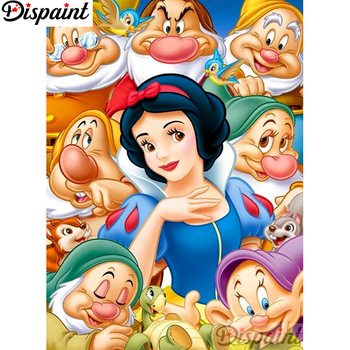 Dispaint Full Square/Round Drill 5D DIY Diamond Painting Cartoon character Embroidery Cross Stitch 3D Home Decor A12785