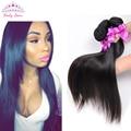 7A Virgin Peruvian Straight Hair 3 Bundles Peruvian Virgin Hair Straight 100% Rosa Hair Products Peruvian Human Hair Weaves