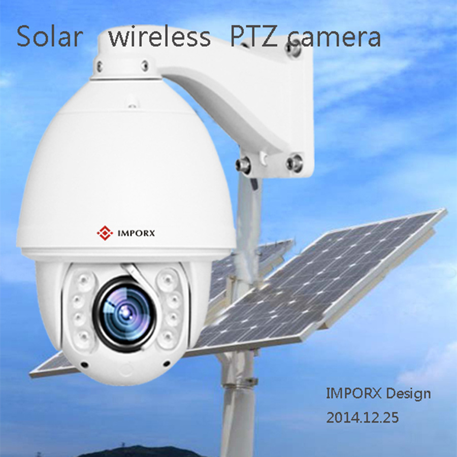 Home Surveillance Security solar powered PTZ Camera CCTV HD 1080P Wireless WIFI IP Camera Outdoor Onvif H.264 IR Night Vision new waterproof ip camera 720p cctv security dome camera video capture surveillance hd onvif cctv infrared ir camera outdoor