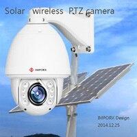 Home Surveillance Security solar powered PTZ Camera CCTV HD 1080P Wireless WIFI IP Camera Outdoor Onvif H.264 IR Night Vision